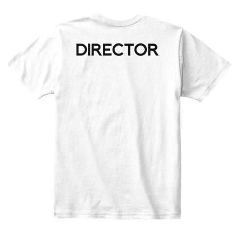 Kid's Collabra Cam Director Tee White White T-Shirt Back
