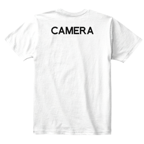 Kid's Collabra Cam Camera Tee White White T-Shirt Back