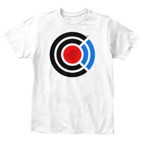 Kid's Collabra Cam Camera Tee White White T-Shirt Front