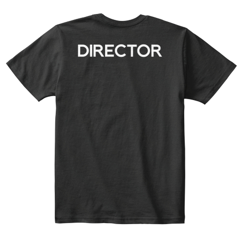 Kid's Collabra Cam Director Tee Black Black T-Shirt Back
