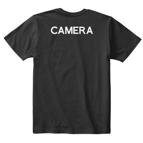 Kids's Collabra Cam Camera Tee Black Black T-Shirt Back