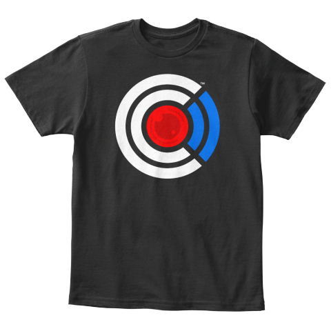 Kids's Collabra Cam Camera Tee Black Black T-Shirt Front