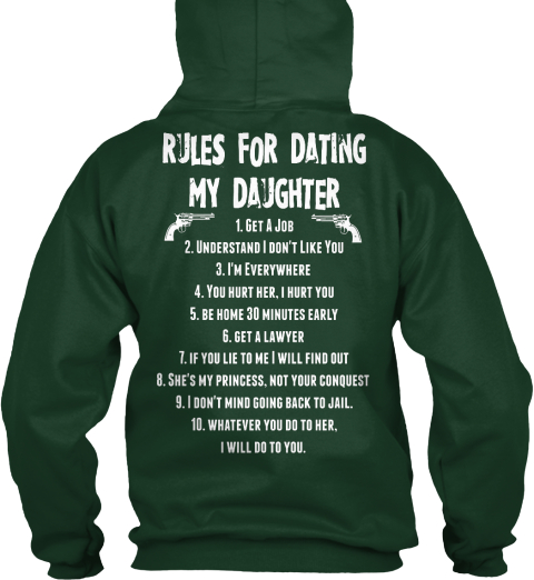 12 rules for dating my daughter I remember my mother she said to never let a guy place his hand on my knee i see so many dating couples with their are you going to let your daughter.