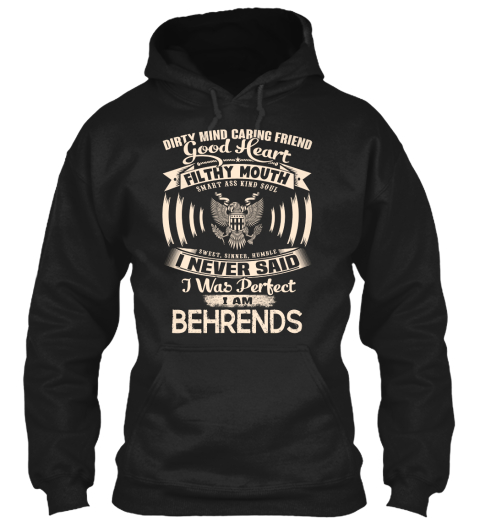 Behrends Name Perfect Black T-Shirt Front