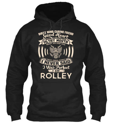 Rolley Name Perfect Black T-Shirt Front