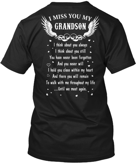 I Miss You My Grandson T-Shirt From MISS YOU STORE