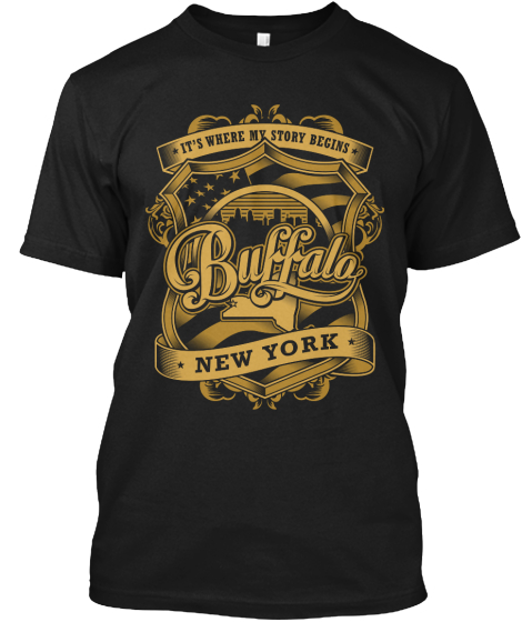 Its Where My Story Begins Buffalo New York T-Shirt Front