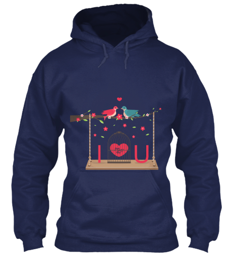 Valentine Day Navy T-Shirt Front