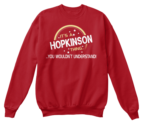 It's A Hopkinson Thing Deep Red  T-Shirt Front