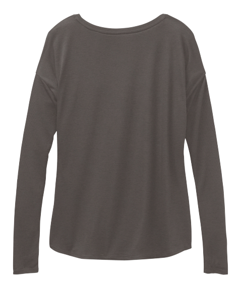 Anchored Hope! Dark Grey Heather Long Sleeve T-Shirt Back