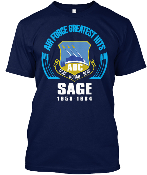 The Sage System Navy T-Shirt Front