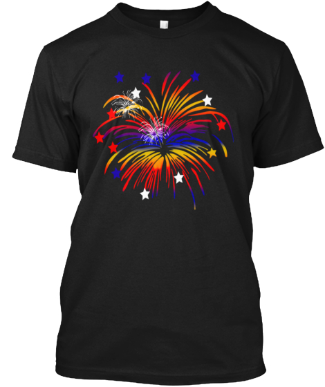 Independence Day Fireworks T-Shirt Front