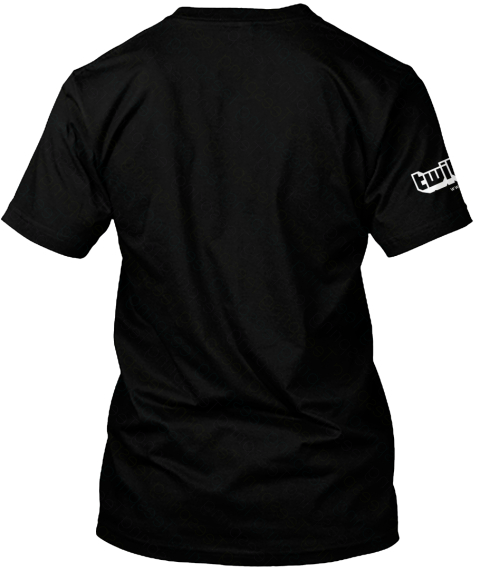 Twil Black T-Shirt Back