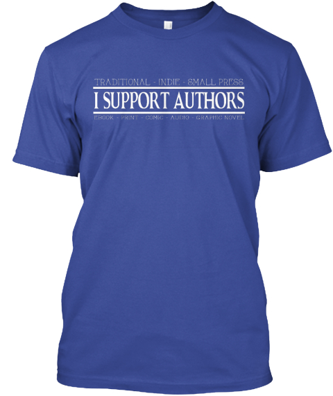 In Support Of Authors Deep Royal T-Shirt Front
