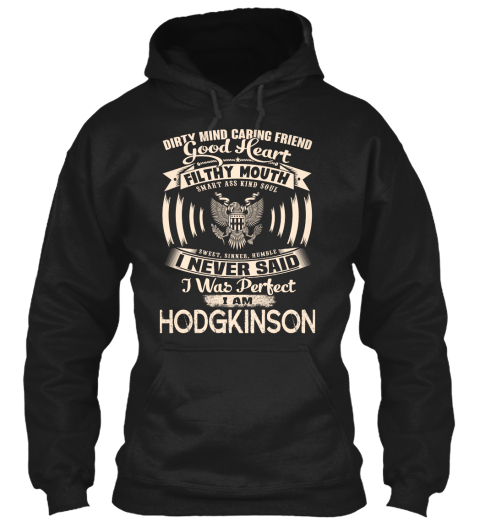 Hodgkinson Name Perfect Black T-Shirt Front