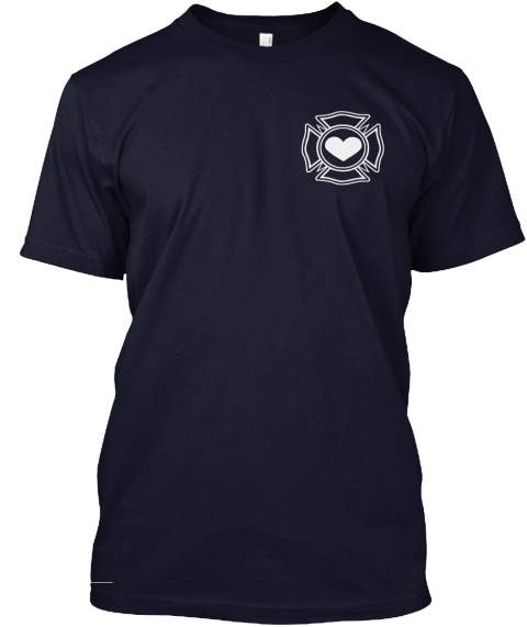 Fire Mom Strong Navy T-Shirt Front