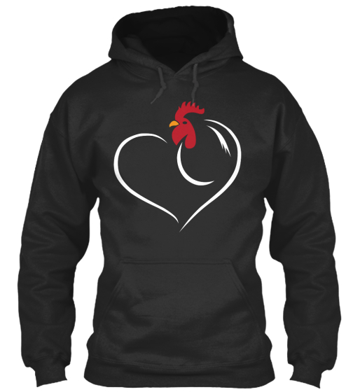 Heart   Chicken Sweatshirt Front