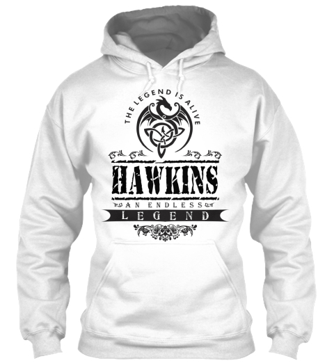 Hawkins  White T-Shirt Front
