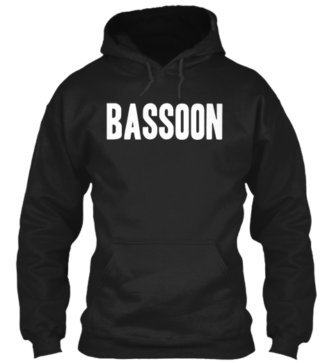 Bassoon Black Sweatshirt Front