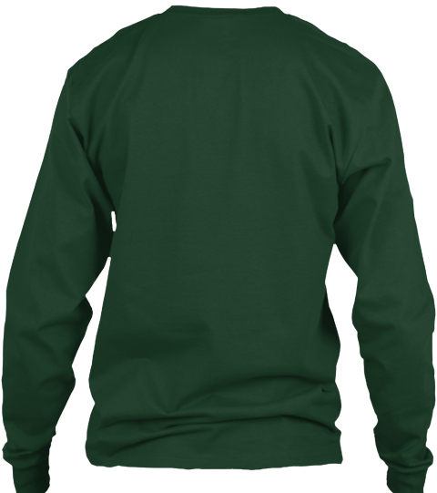 The Walking Xmas Forest Green Long Sleeve T-Shirt Back