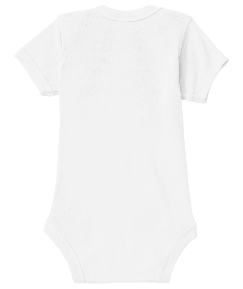 Watercolor Fox Onesie White T-Shirt Back