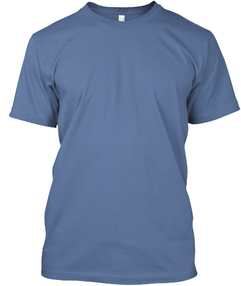 Katy Trail Route Map Denim Blue T-Shirt Front