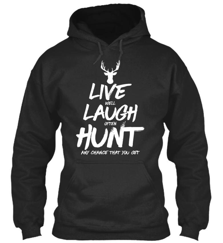Live-Laugh-Hunt-Deer-Hunting-Standard-College-Hoodie