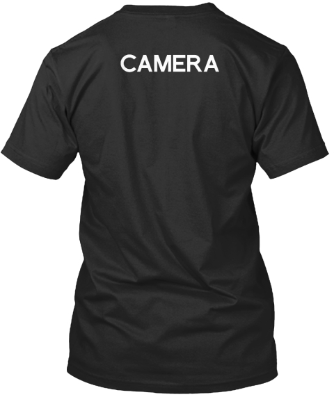 Men's Collabra Cam Camera Tee Black Black T-Shirt Back