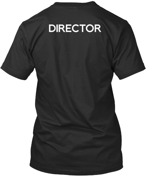Men's Collabra Cam Director Tee Black Black T-Shirt Back