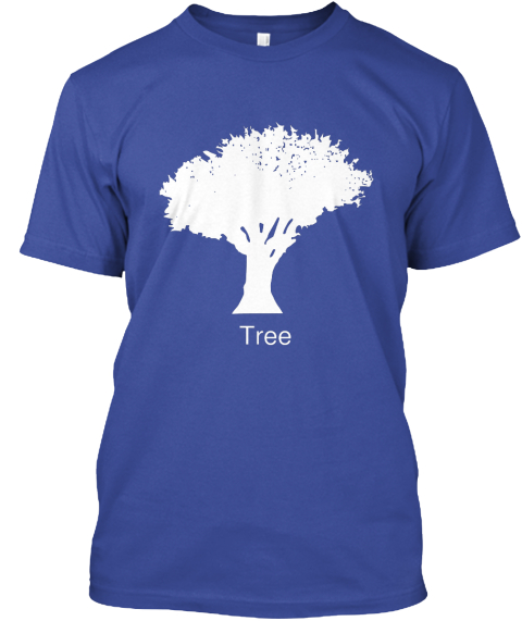 Tree Deep Royal T-Shirt Front