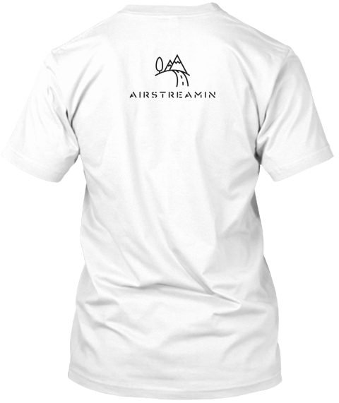 Air Streamin White T-Shirt Back