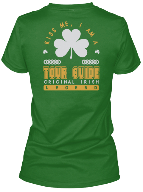 Tour Guide Original Irish Job T Shirts Irish Green Women's T-Shirt Back