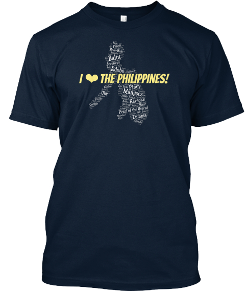 I Love The Philippines! New Navy T-Shirt Front