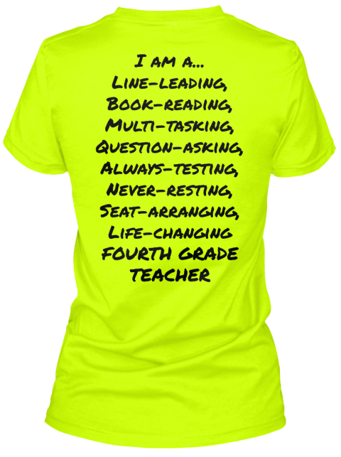 I Am... Safety Green Women's T-Shirt Back