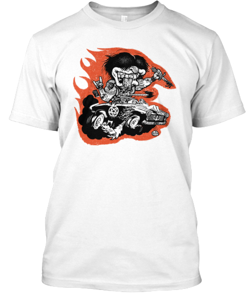Hell Fink By King Merinuk White T-Shirt Front