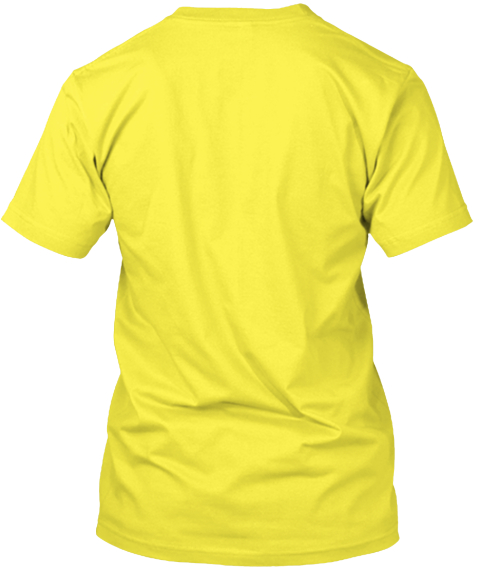 Everything Is Ok Yellow T-Shirt Back