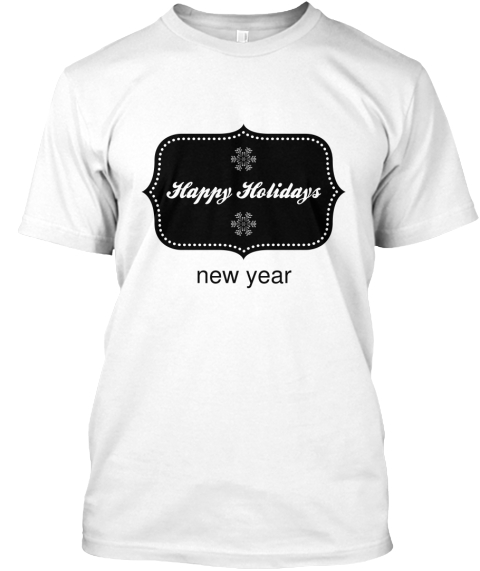 New Year White T-Shirt Front