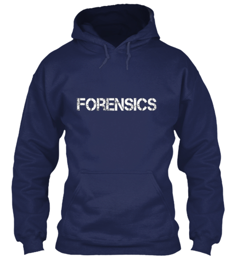 Forensics Badass Major Navy Sweatshirt Front