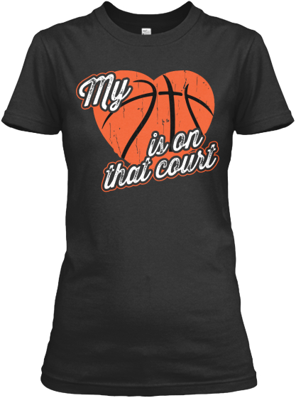 My Heart Is On That Court Women's T-Shirt Front