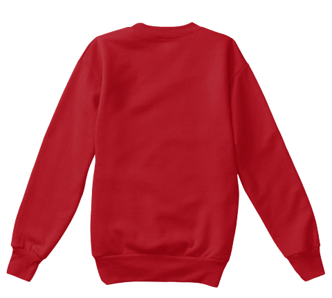 Rescue Cat Sweatshirt [Kids Sizes] Deep Red  T-Shirt Back