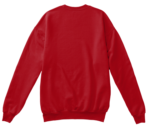 Merry Litmas Deep Red  Sweatshirt Back