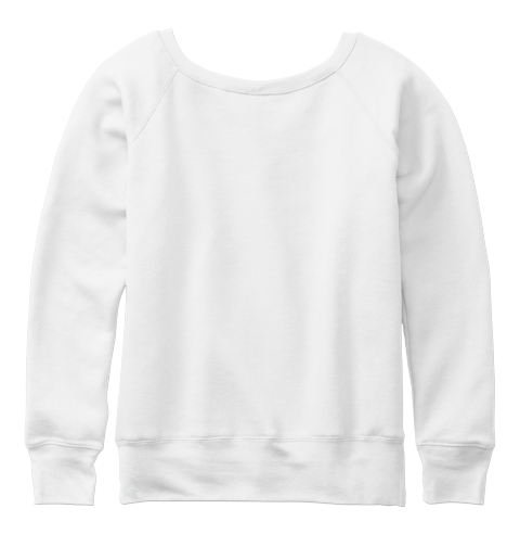 Four Wild Elephants White  Sweatshirt Back