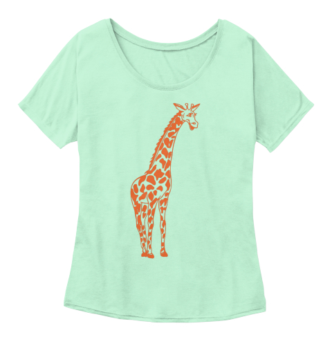 Giraffe T Shirt Mint  Women's T-Shirt Front