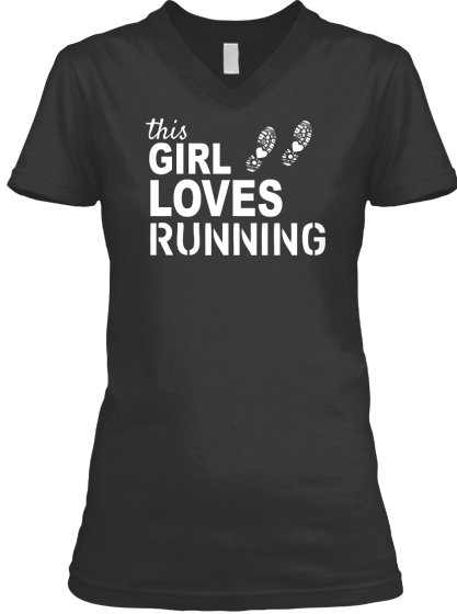 This Girl Loves Running T-Shirt Front