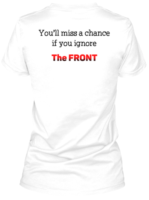 Attractiveness White T-Shirt Nữ Back