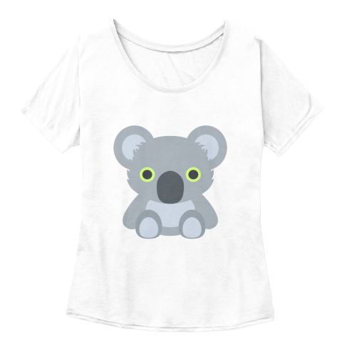 Cute Koala  White  Women's T-Shirt Front