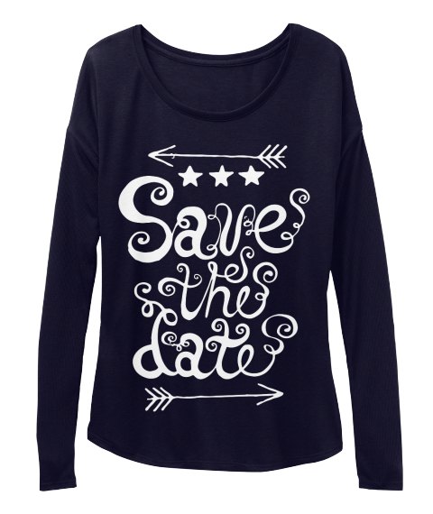Save The Date Midnight Camiseta Front
