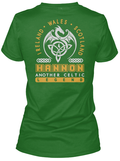 Hannon Another Celtic Thing Shirts Irish Green Women's T-Shirt Back