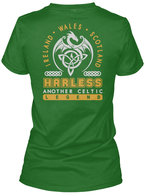 Harless Another Celtic Thing Shirts Irish Green T-Shirt Back