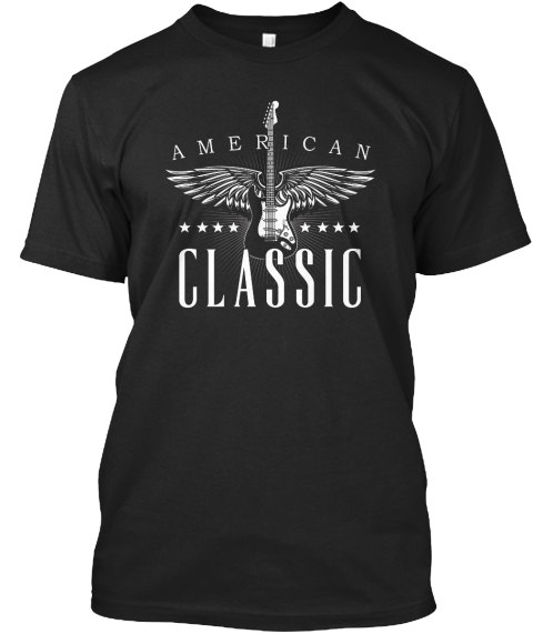 American Classic Black T-Shirt Front